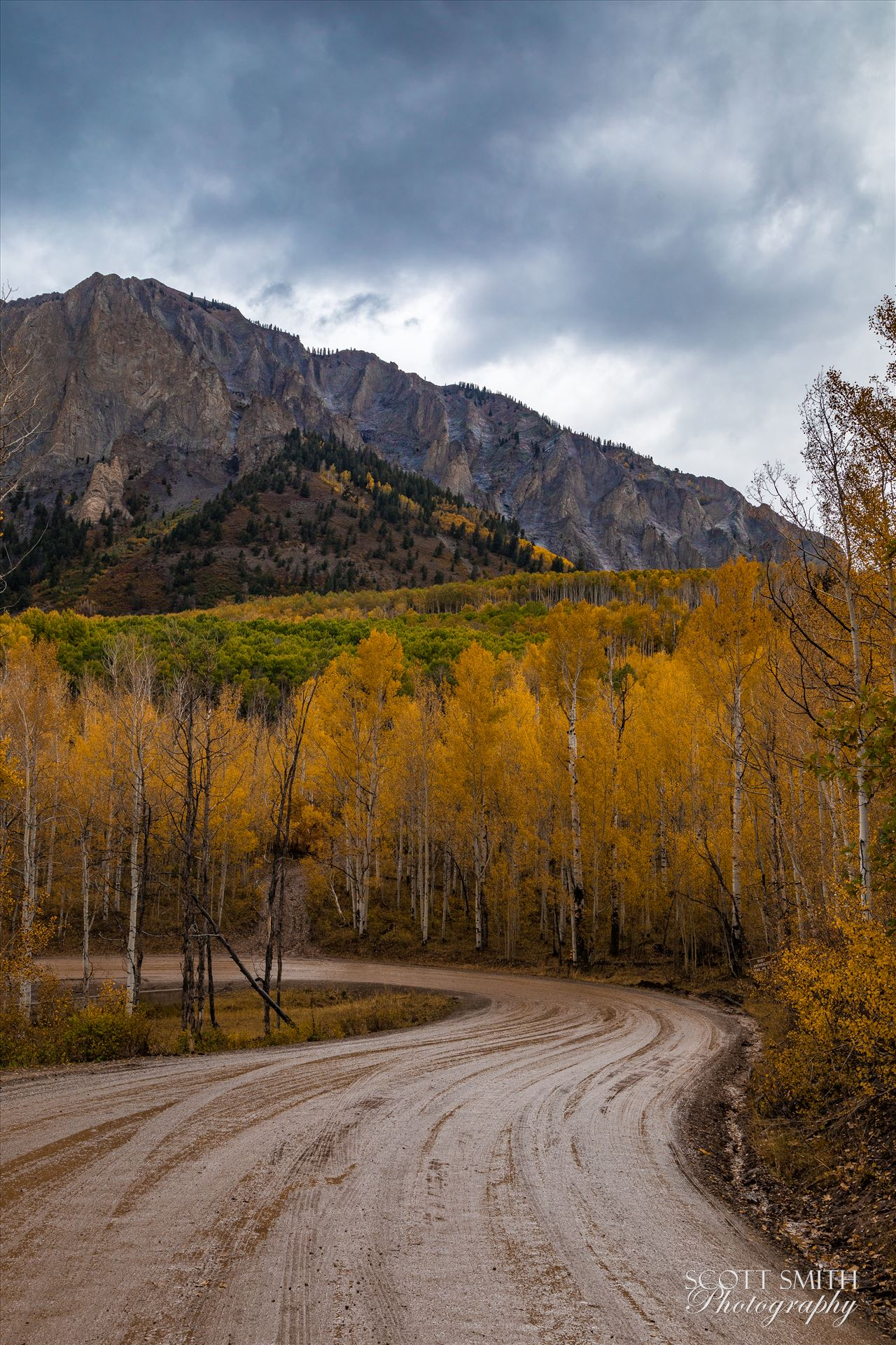 Marcellina Mountain 1 - Marcellina Mountain from Kebler Pass, on the way to Creste Butte, Saturday 9/29/17. by Scott Smith Photos