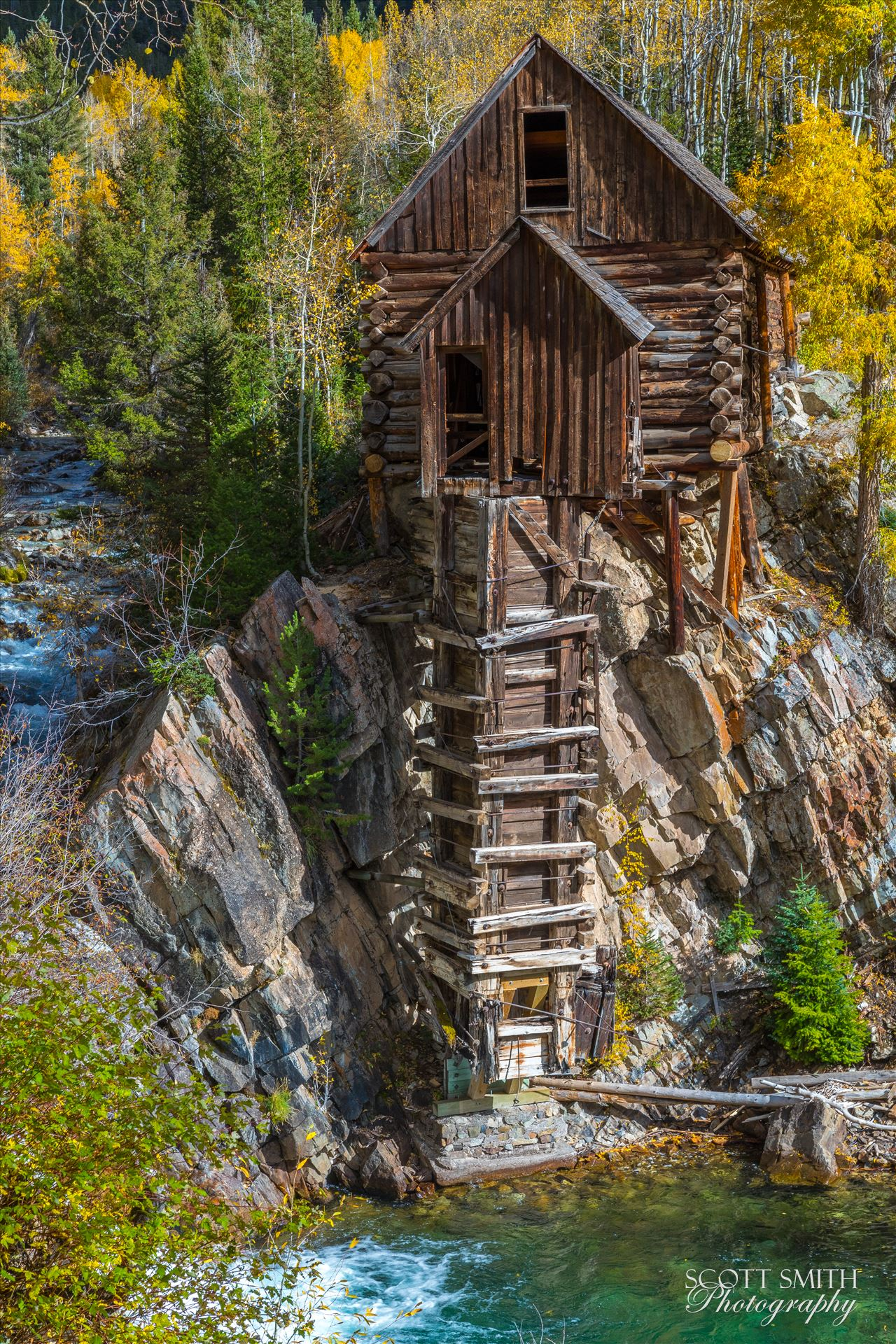 Crystal Mill, Colorado 10 - The Crystal Mill, or the Old Mill is an 1892 wooden powerhouse located on an outcrop above the Crystal River in Crystal, Colorado by Scott Smith Photos
