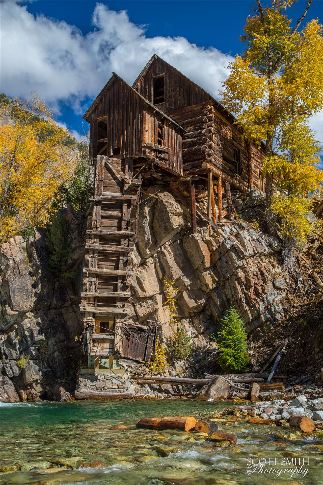 Crystal Mill, Colorado 14 - The Crystal Mill, or the Old Mill is an 1892 wooden powerhouse located on an outcrop above the Crystal River in Crystal, Colorado by Scott Smith Photos