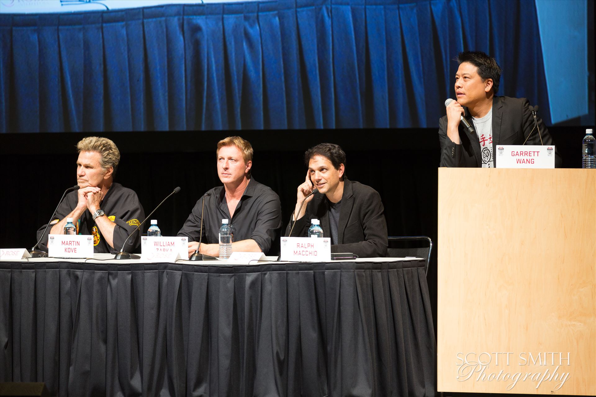 Denver Comic Con 2016 39 - Denver Comic Con 2016 at the Colorado Convention Center. Garrett Wang, Ralph Macchio, Martin Kove and William Zabka. by Scott Smith Photos