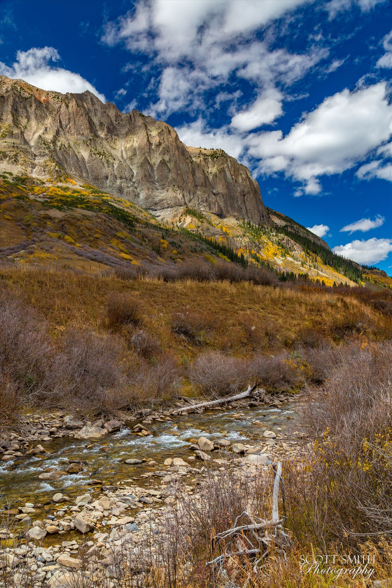 Gothic and East River - One of the small East River tributaries trickles past Gothic Mountain near Crested Butte, Colorado. by Scott Smith Photos