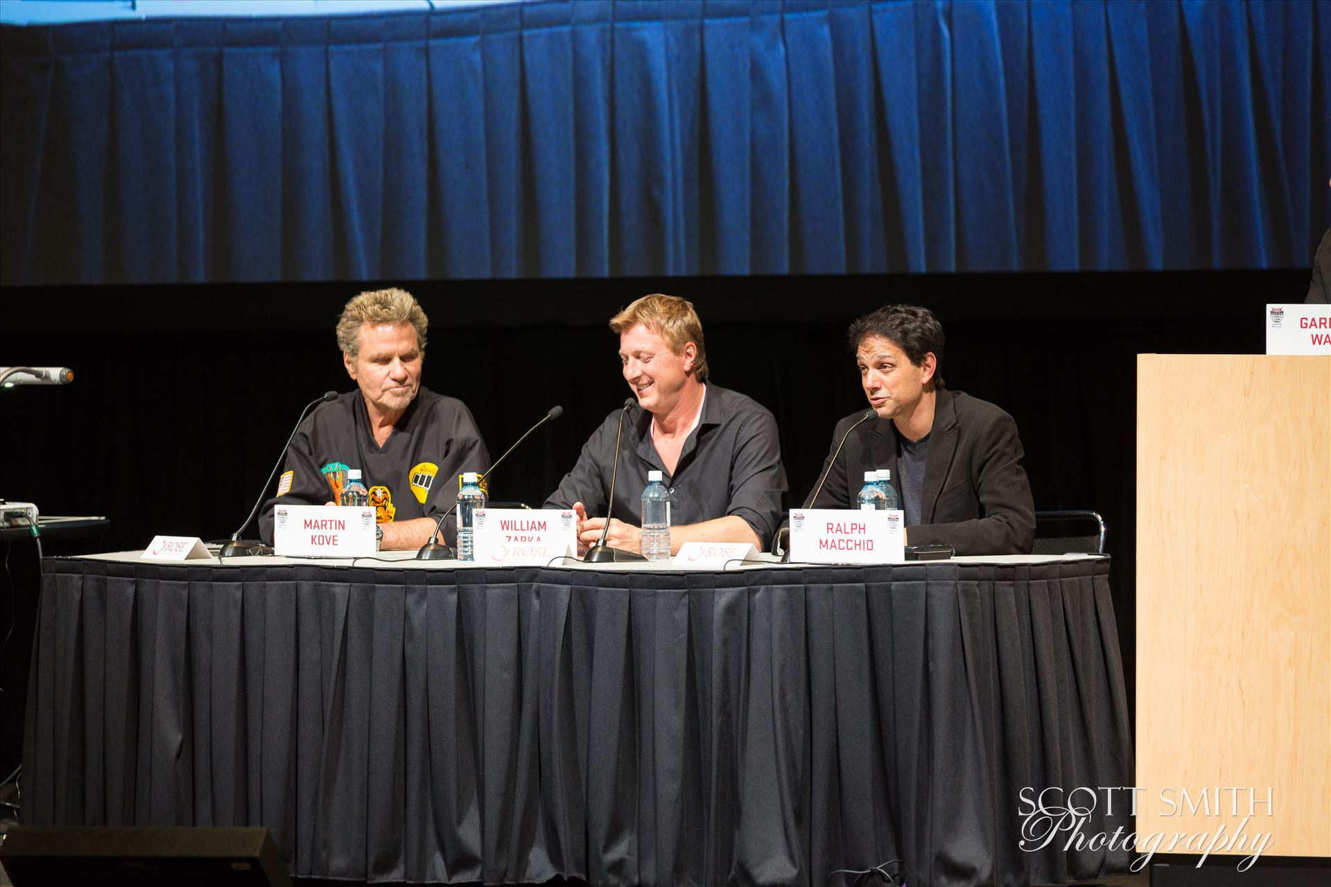 Denver Comic Con 2016 41 - Denver Comic Con 2016 at the Colorado Convention Center. Garrett Wang, Ralph Macchio, Martin Kove and William Zabka. by Scott Smith Photos