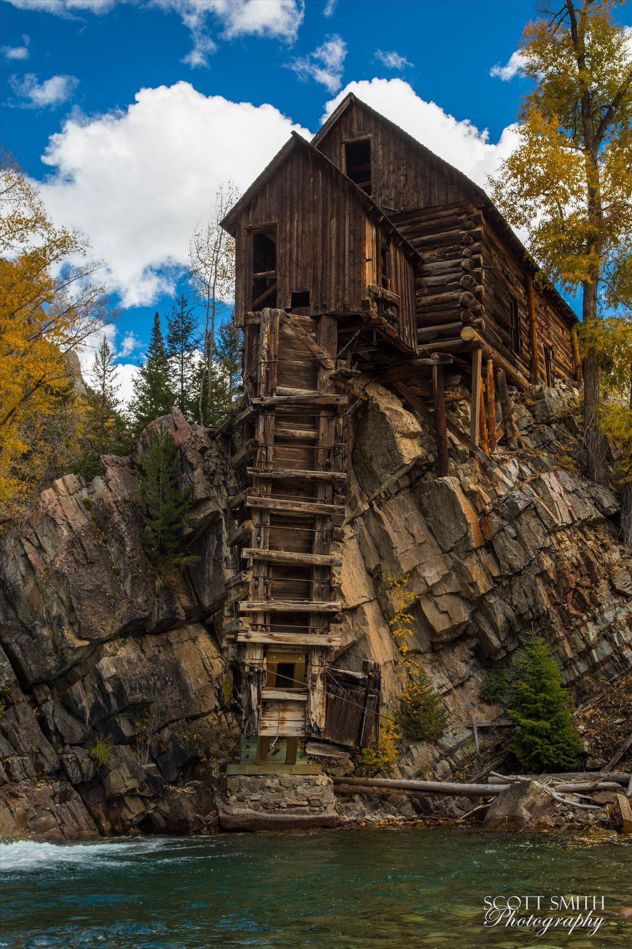 Crystal Mill, Colorado 13 - The Crystal Mill, or the Old Mill is an 1892 wooden powerhouse located on an outcrop above the Crystal River in Crystal, Colorado by Scott Smith Photos