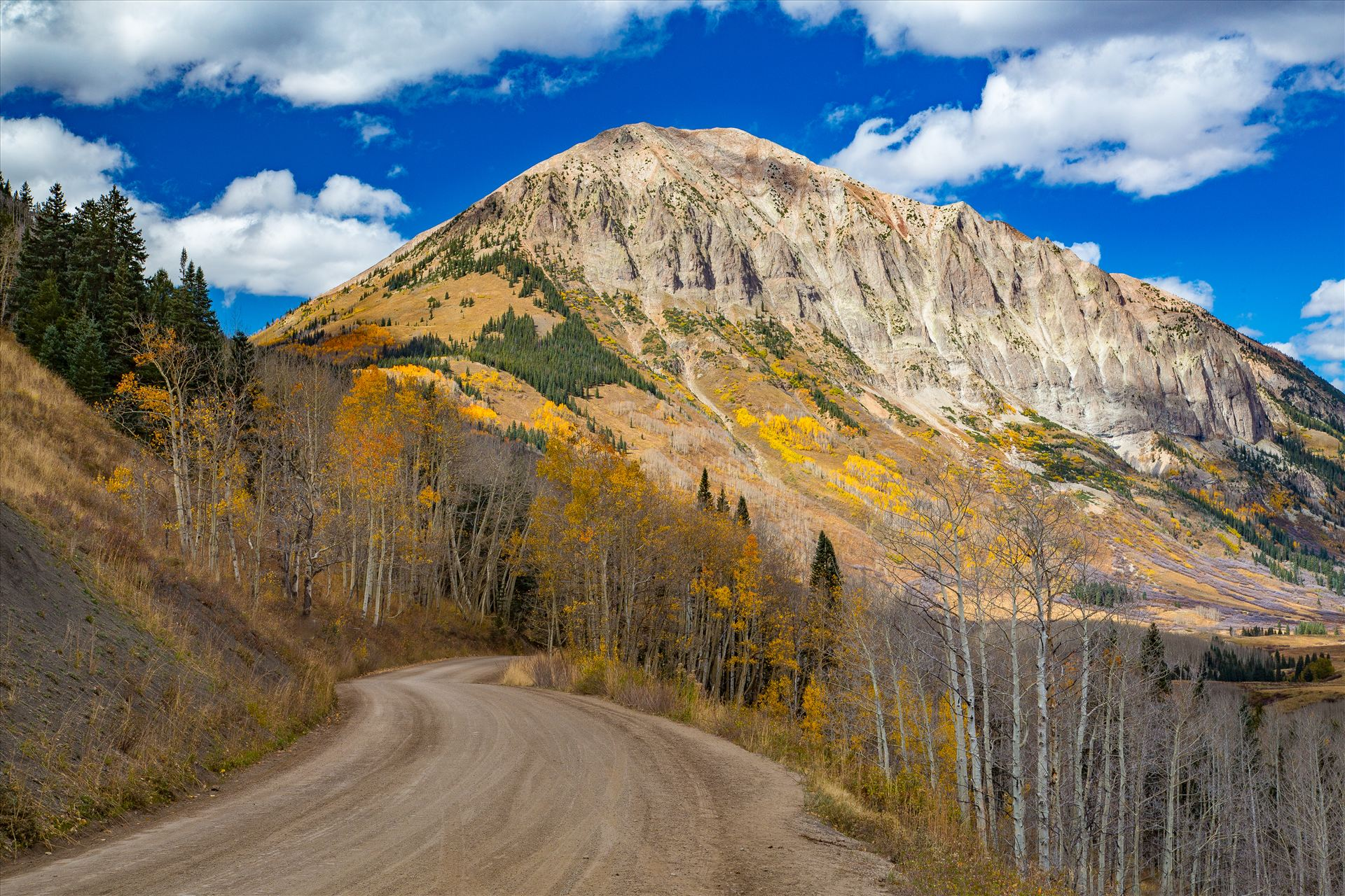 Gothic Road 2 - The view from Gothic Road heading north of Mt Crested Butte in October. by Scott Smith Photos