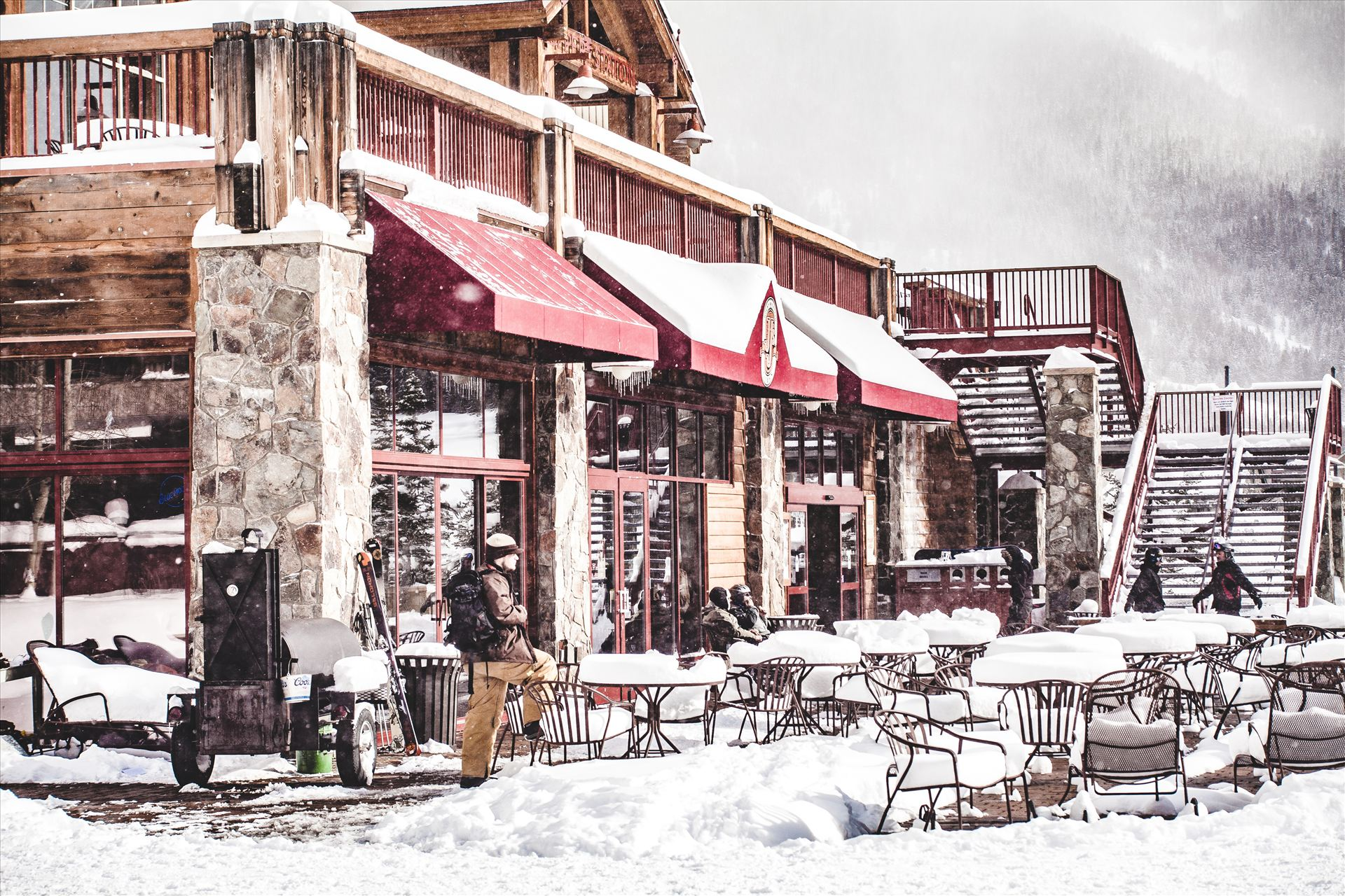 Copper Mountain - Taking a break from shredding at Copper Mountain, Colorado. by Scott Smith Photos