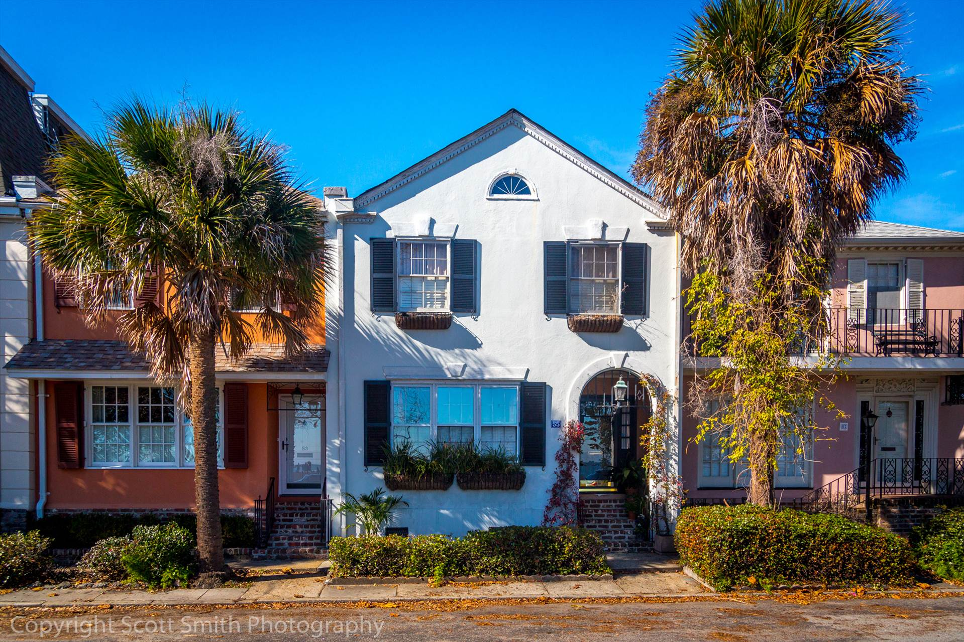 Facing the Bay - A row of restored homes face Charleston Bay in South Carolina. by Scott Smith Photos