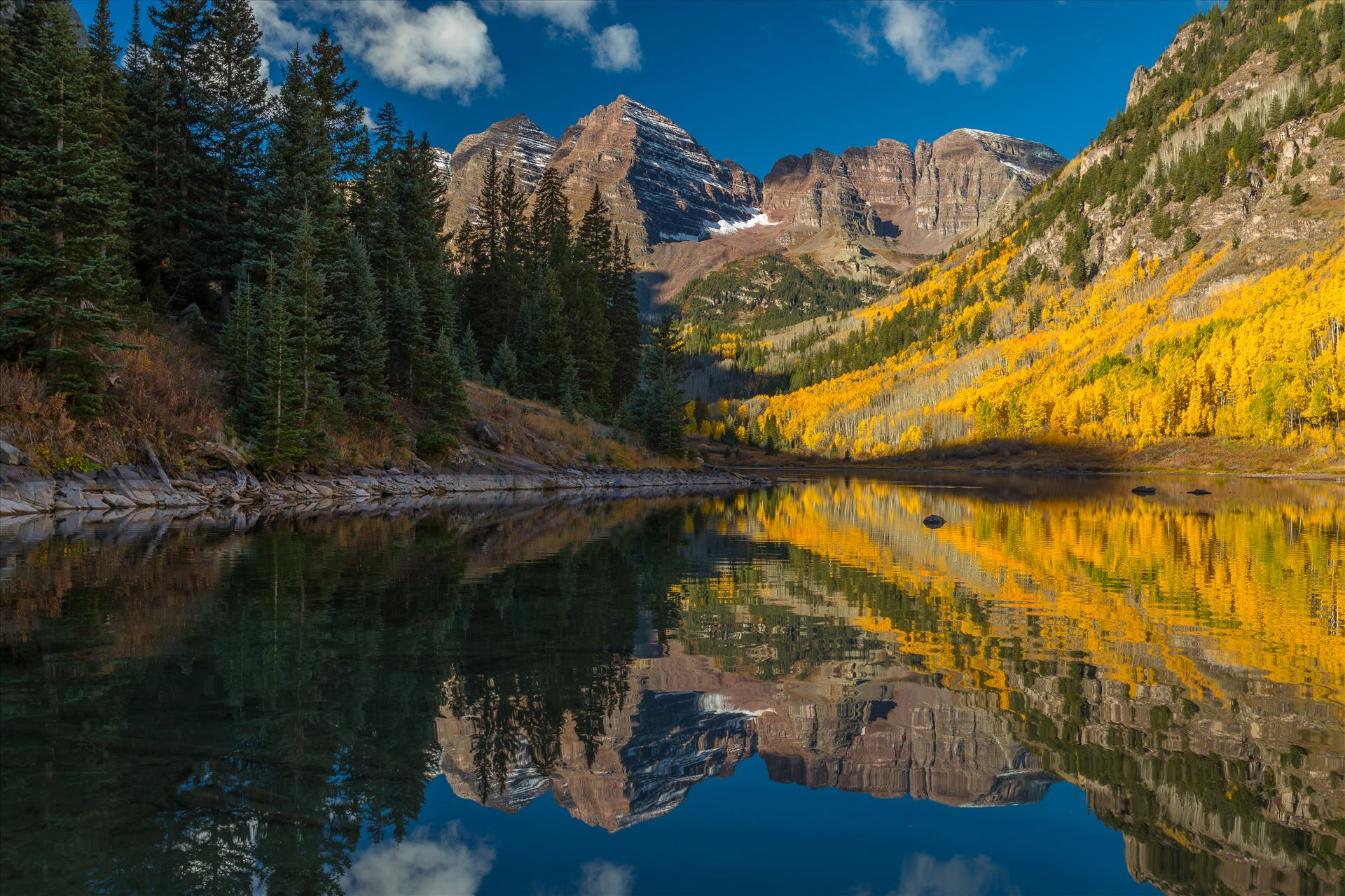 Maroon Bells and Maroon Lake No 2 -  by Scott Smith Photos