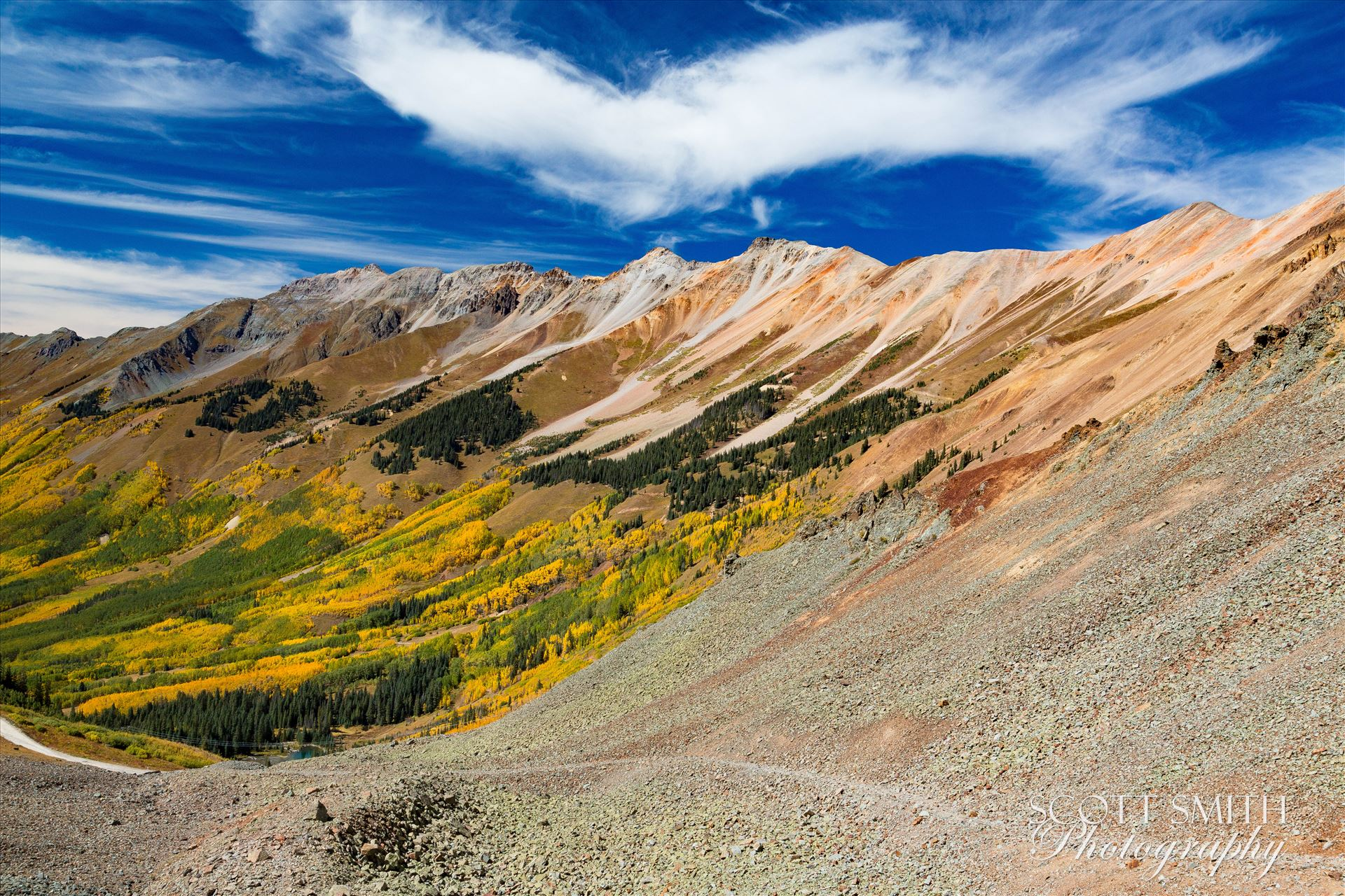 Ophir Pass 1 - Just west of the Ophir Pass summit, between Ouray and Silverton Colorado in the fall. by Scott Smith Photos