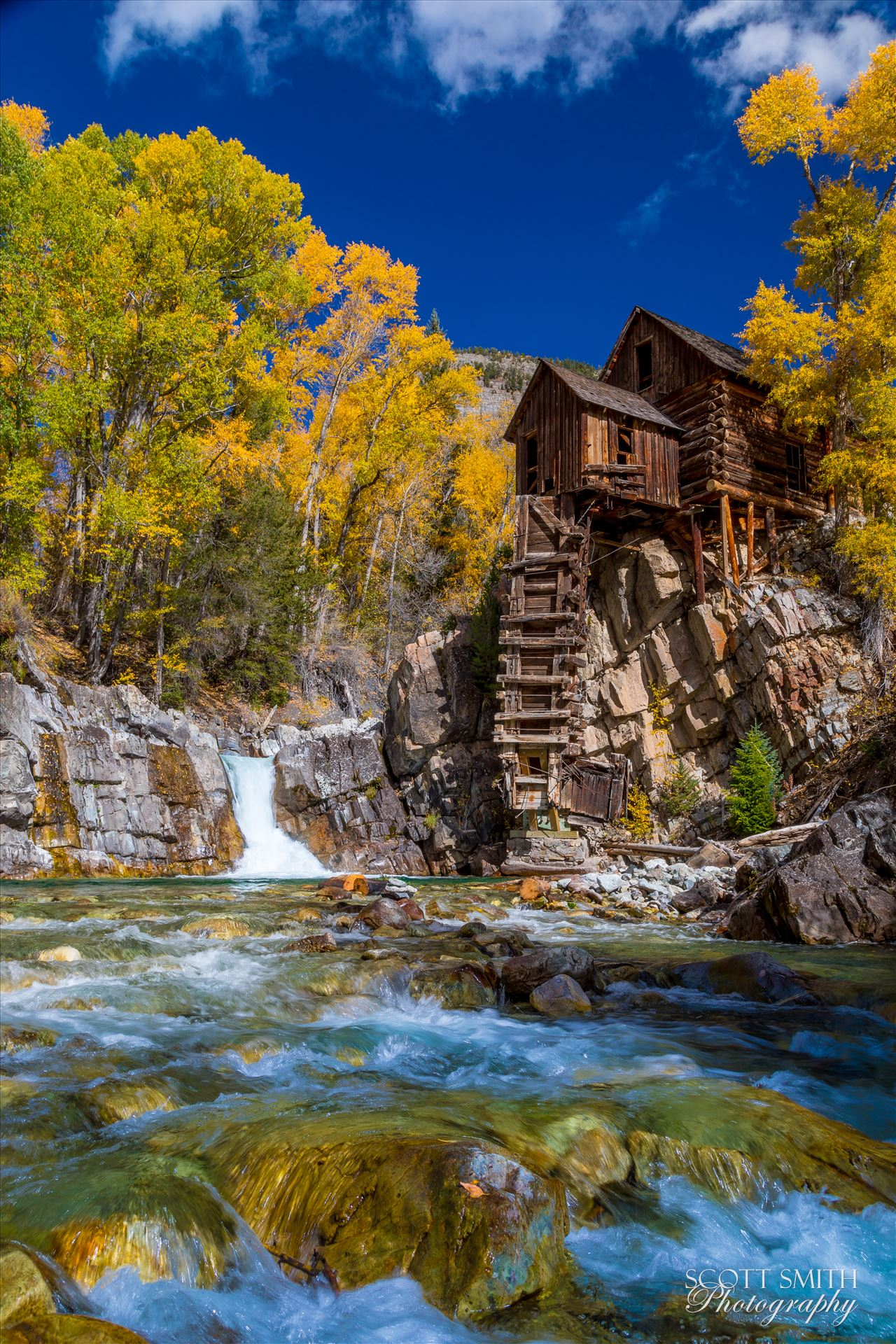 Crystal Mill, Colorado 04 - The Crystal Mill, or the Old Mill is an 1892 wooden powerhouse located on an outcrop above the Crystal River in Crystal, Colorado by Scott Smith Photos