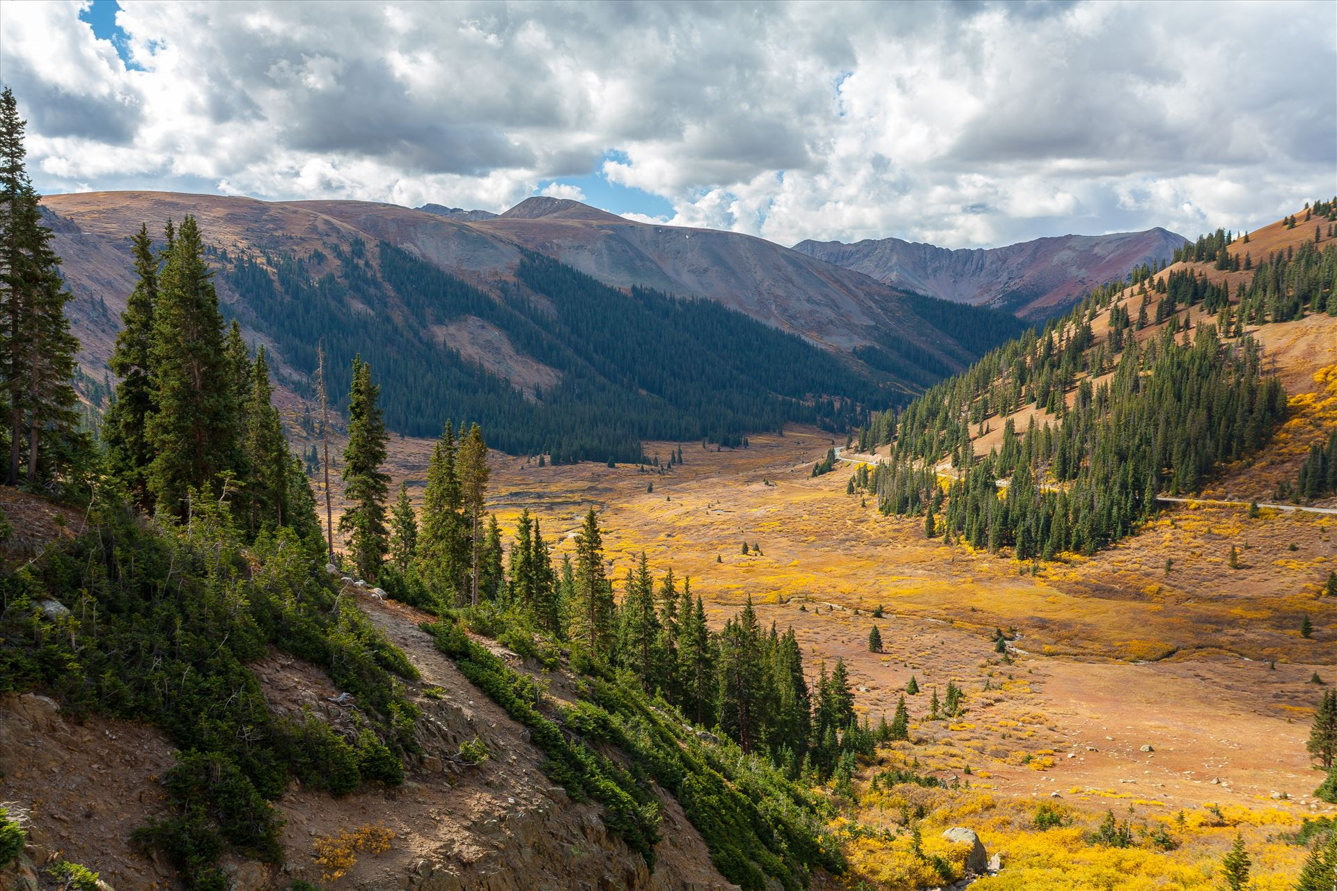 Independence Valley in Fall - From Independence Pass, highway 82, Independence Valley is an amazing sight to see any time of year. by Scott Smith Photos