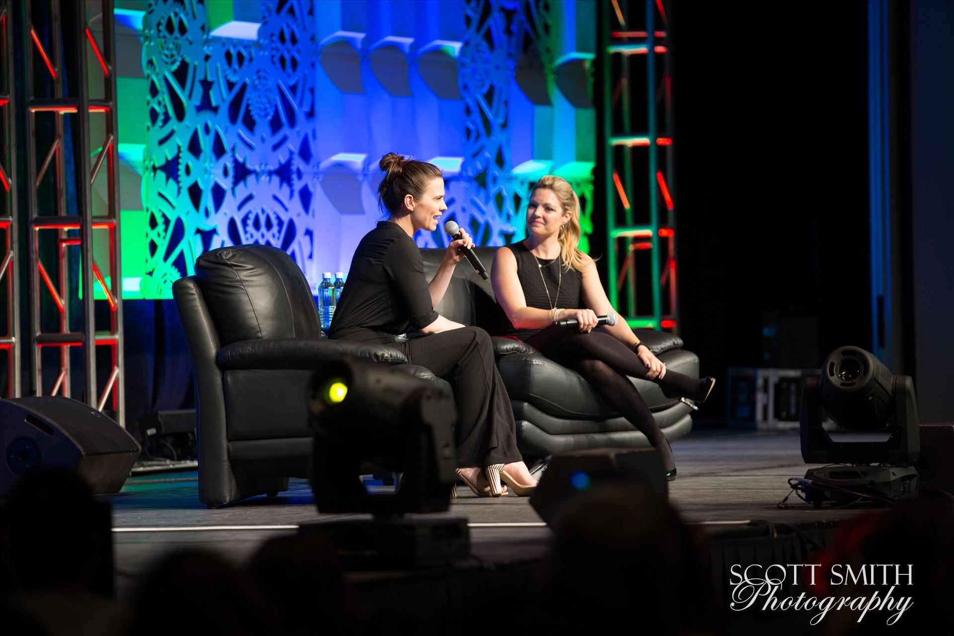 Denver Comic Con 2016 19 - Denver Comic Con 2016 at the Colorado Convention Center. Clare Kramer and Haley Atwell. by Scott Smith Photos