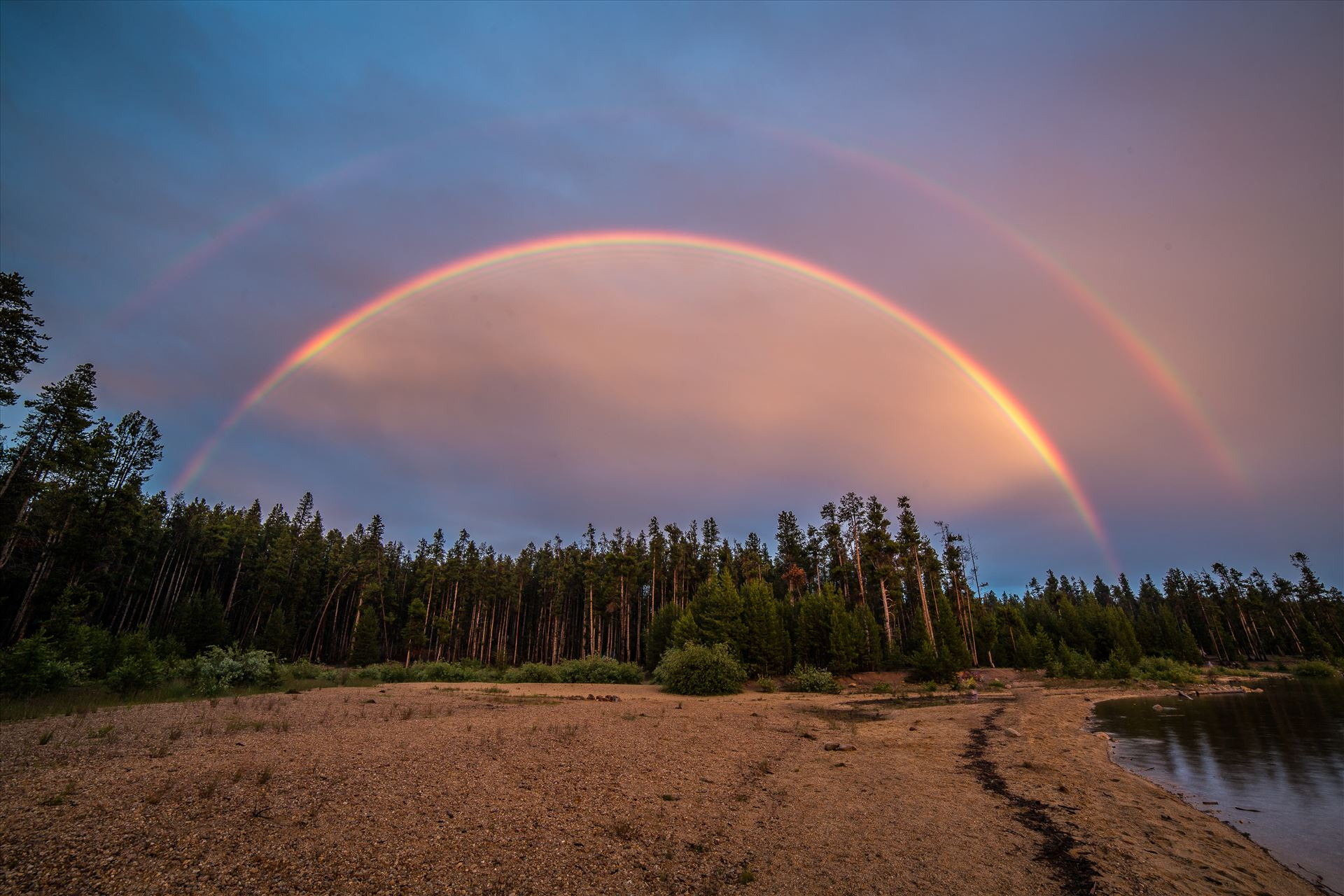 Double Rainbow at Turquoise Lake - A rare double Rainbow at Turqouise Lake , Colorado. by Scott Smith Photos