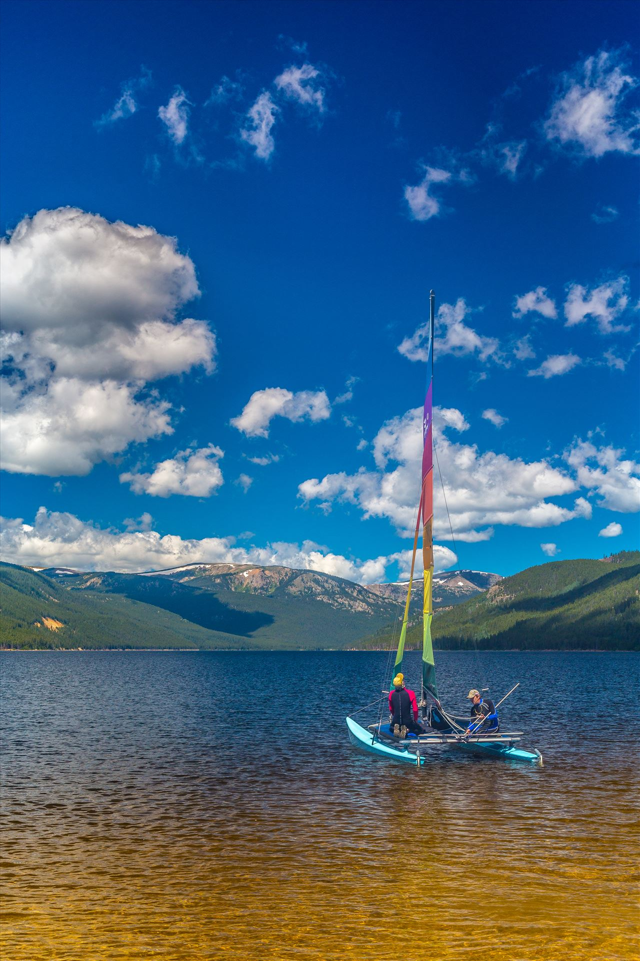 Sailing at Turquoise Lake - Sailing at Turqouise Lake, Leadville, Colorado. by Scott Smith Photos