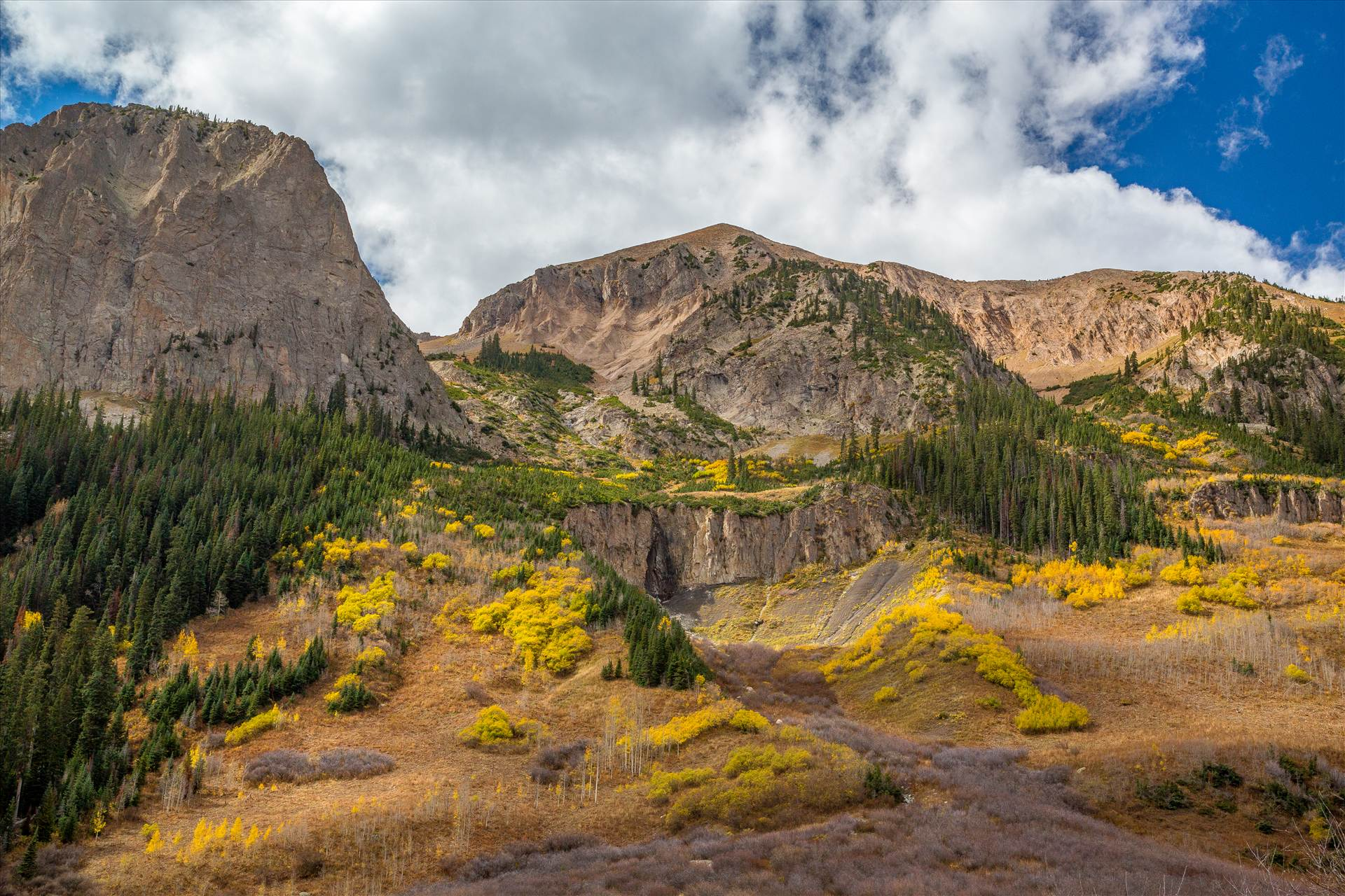 Gothic Road in Fall - The view from Gothic Road, north of Crested Butte, Colorado by Scott Smith Photos