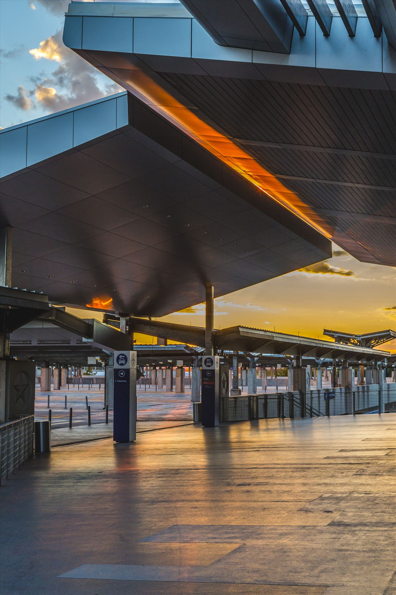 Austin–Bergstrom International Airport - The former parking area at Austin–Bergstrom International Airport at sunset by Scott Smith Photos