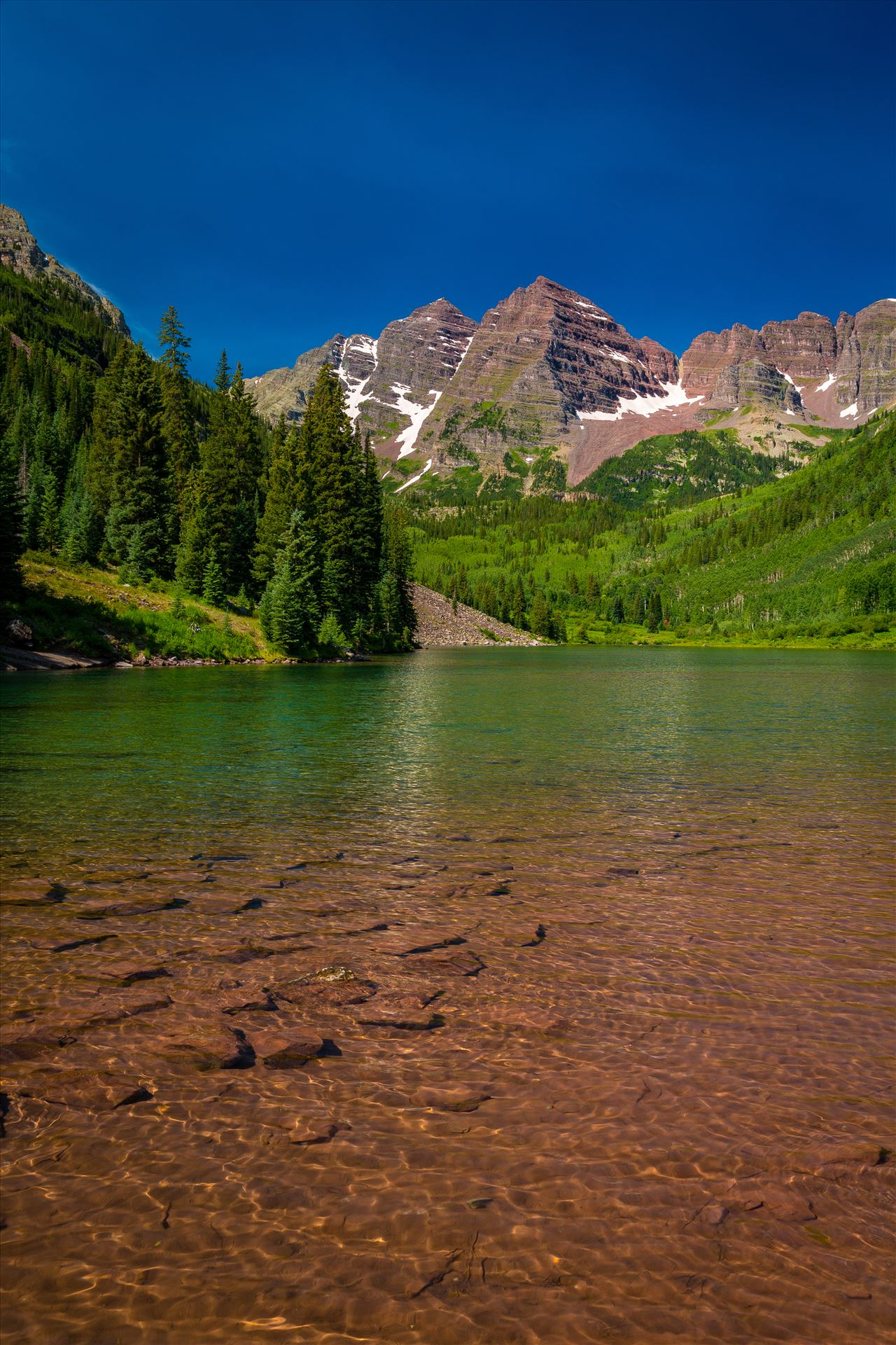 Maroon Bells in Summer No 06 -  by Scott Smith Photos