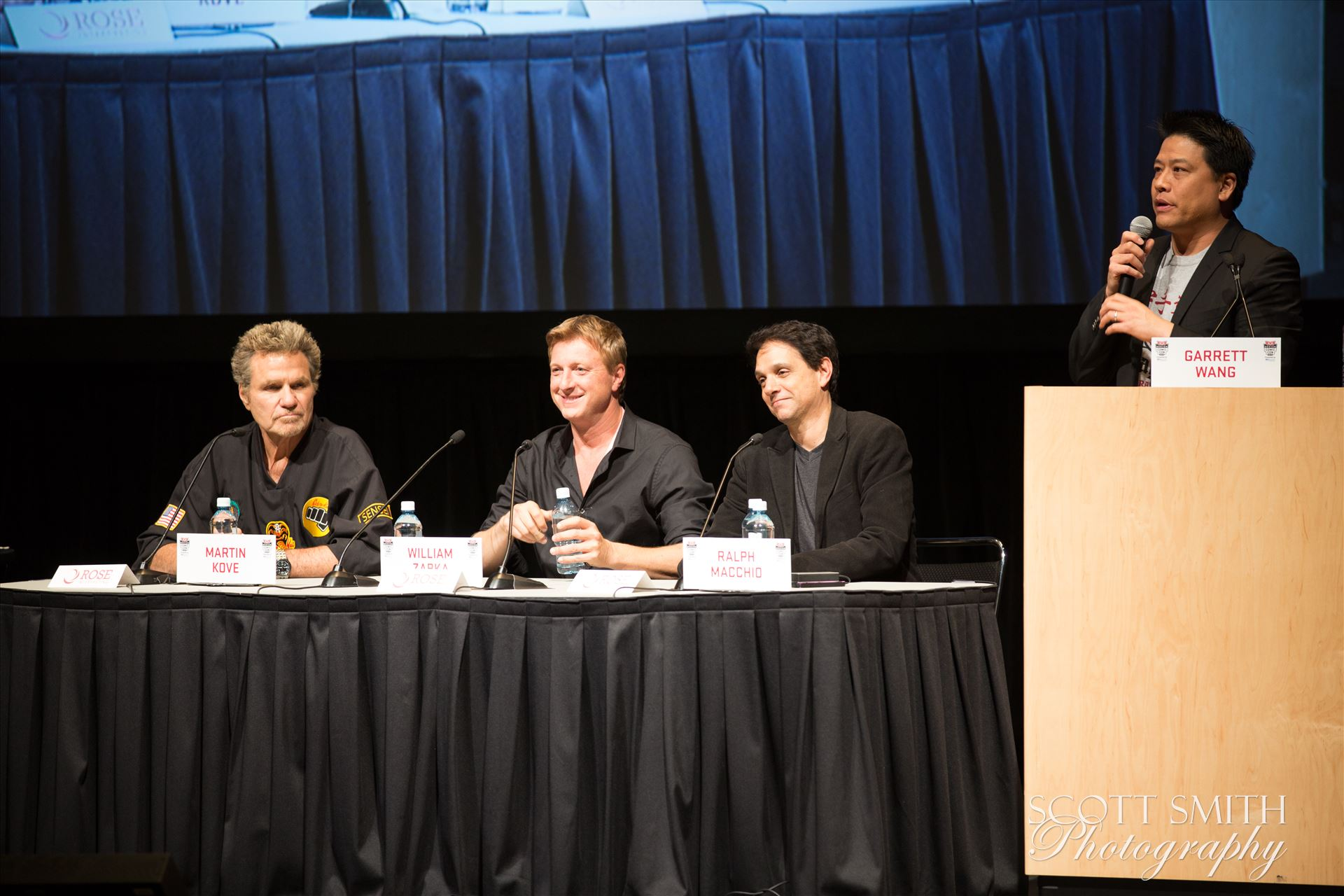 Denver Comic Con 2016 37 - Denver Comic Con 2016 at the Colorado Convention Center. Garrett Wang, Ralph Macchio, Martin Kove and William Zabka. by Scott Smith Photos