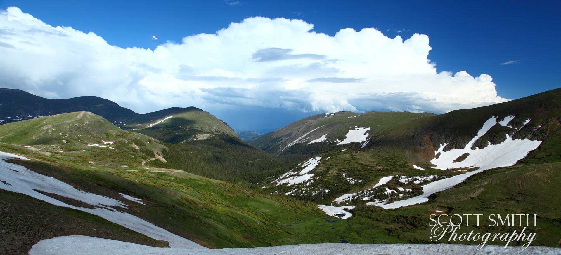 Trail Ridge View - From the top of Trail Ridge Road, in Rocky Mountain National Park. by Scott Smith Photos