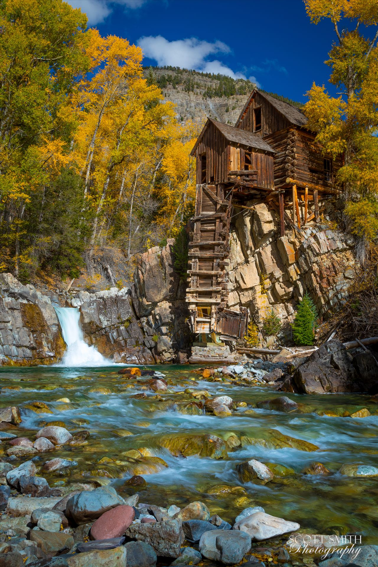 Crystal Mill, Colorado 08 - The Crystal Mill, or the Old Mill is an 1892 wooden powerhouse located on an outcrop above the Crystal River in Crystal, Colorado by Scott Smith Photos