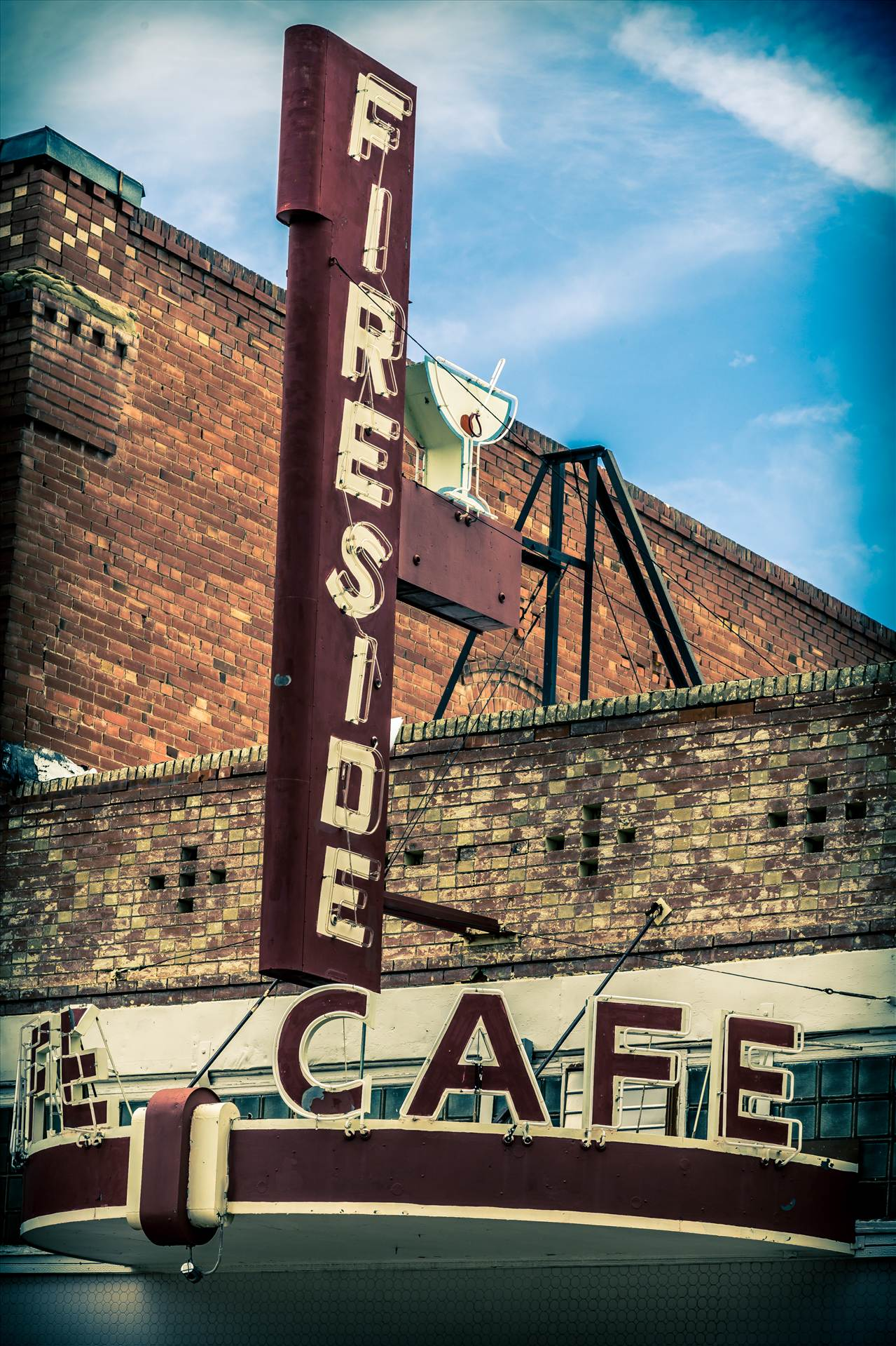 Fireside Cafe - An old diner in Fireside, Colorado. by Scott Smith Photos