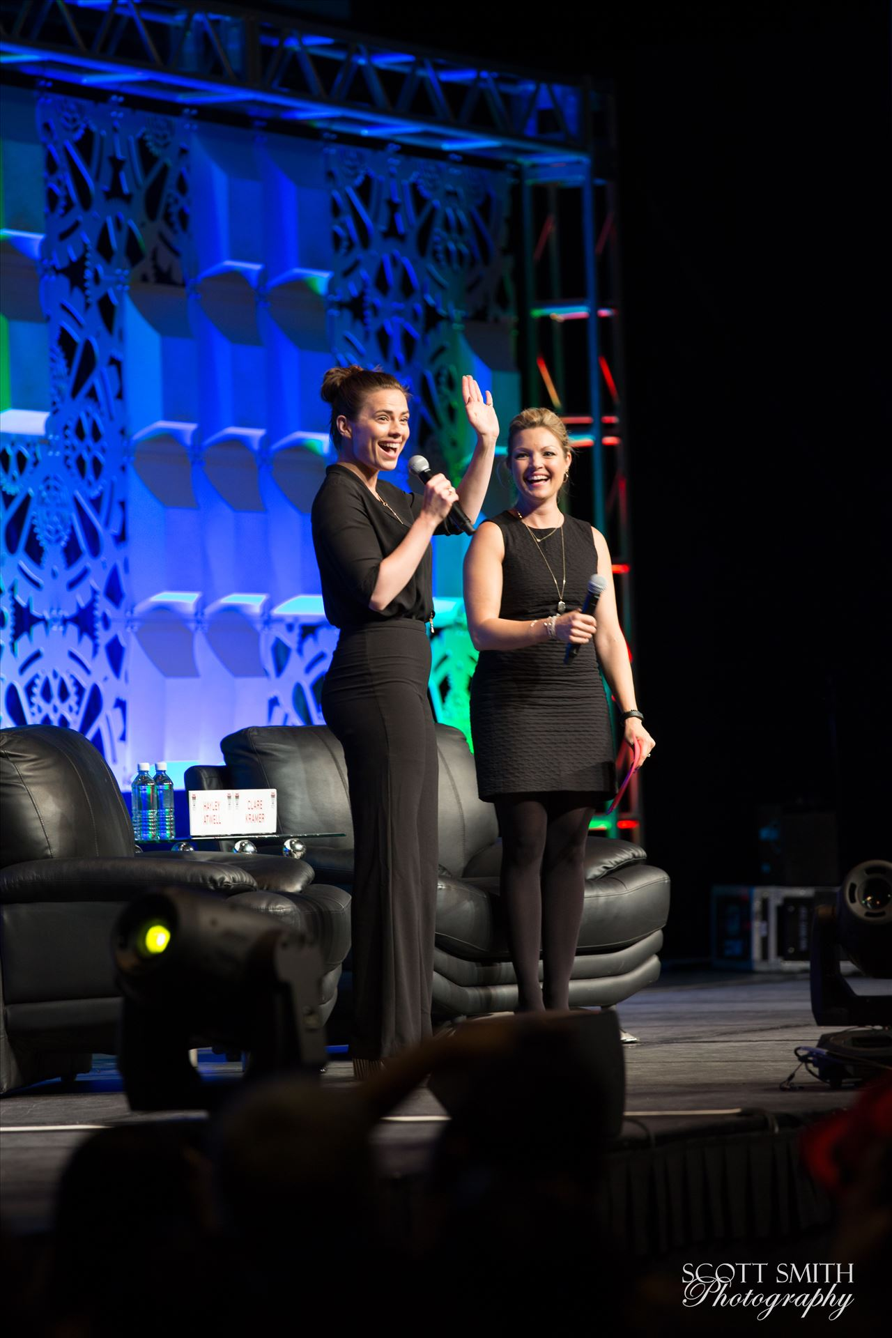 Denver Comic Con 2016 18 - Denver Comic Con 2016 at the Colorado Convention Center. Clare Kramer and Haley Atwell. by Scott Smith Photos