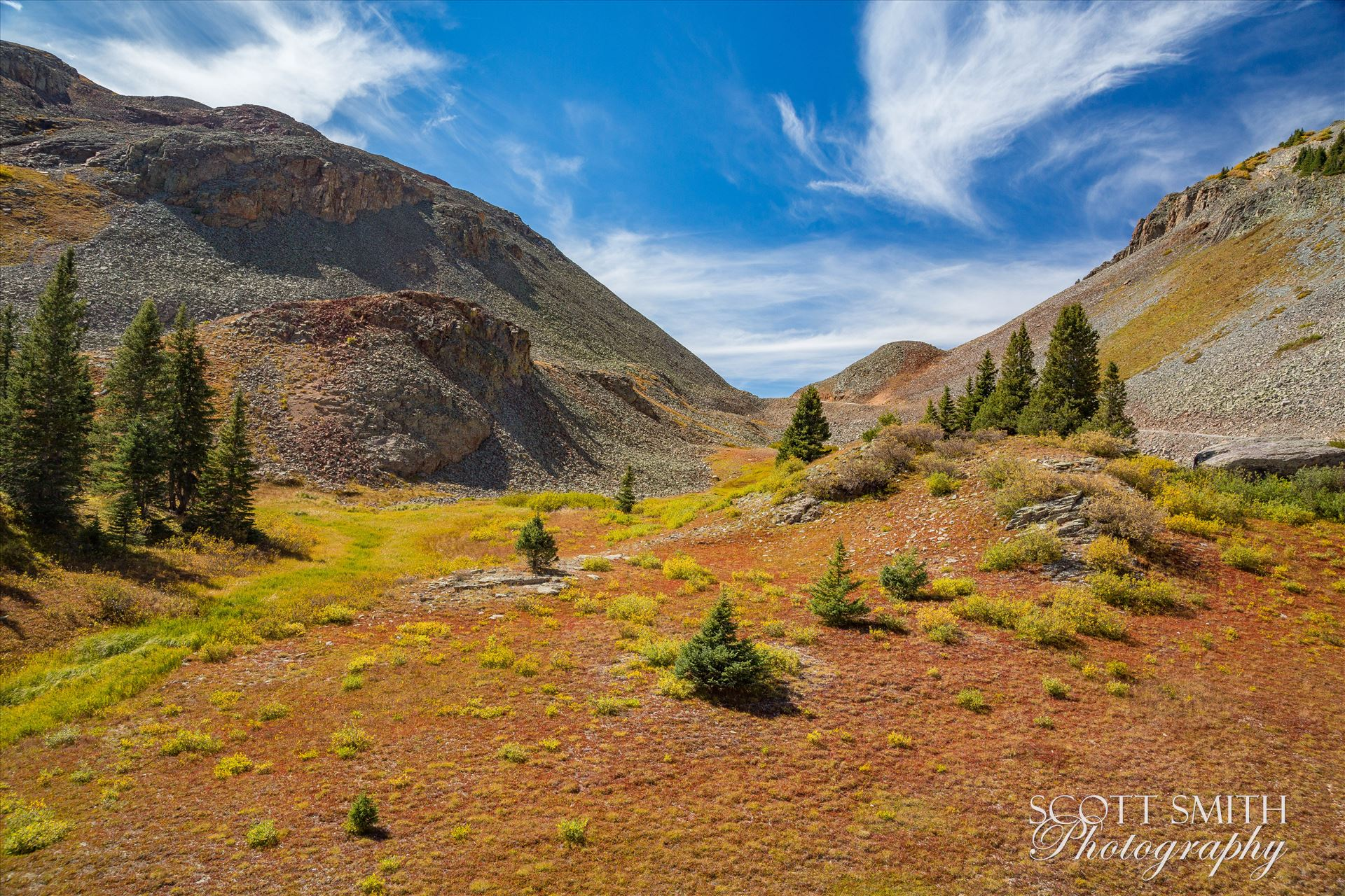Ophir Pass Summit 2 - Near the summit of Ophir Pass, between Ouray and Silverton Colorado in the fall. by Scott Smith Photos