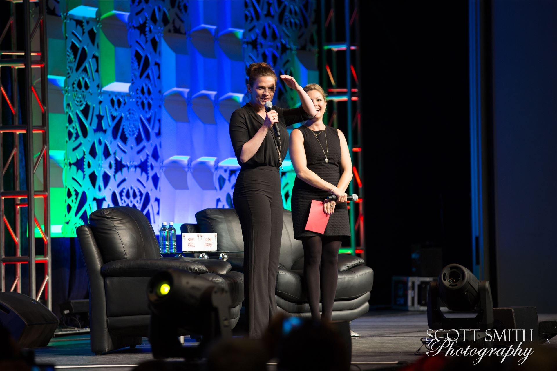 Denver Comic Con 2016 16 - Denver Comic Con 2016 at the Colorado Convention Center. Clare Kramer and Haley Atwell. by Scott Smith Photos