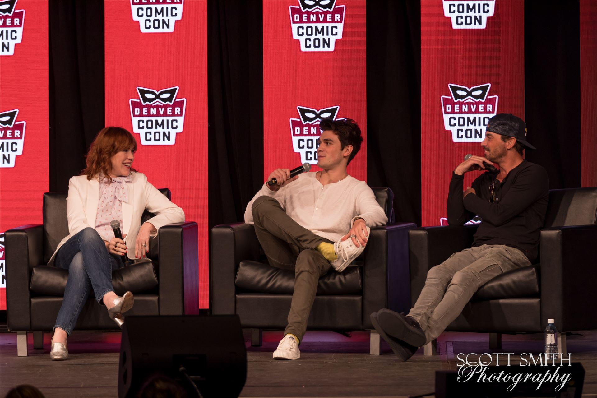 Molly Ringwald, JK Apa, and Skeet Ulrich at Denver Comic Con 2018 -  by Scott Smith Photos