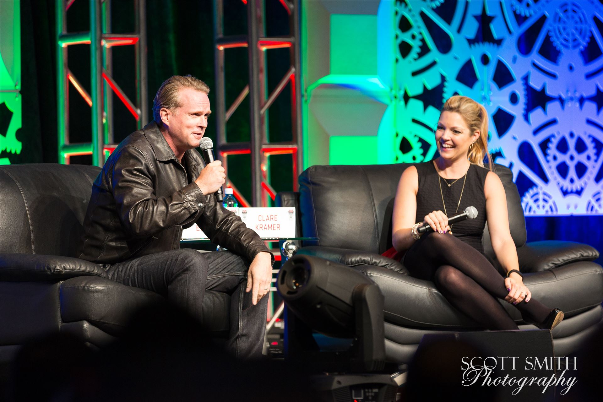 Denver Comic Con 2016 27 - Denver Comic Con 2016 at the Colorado Convention Center. Clare Kramer and Cary Elwes. by Scott Smith Photos