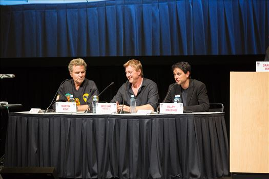 Denver Comic Con 2016 at the Colorado Convention Center. Garrett Wang, Ralph Macchio, Martin Kove and William Zabka.