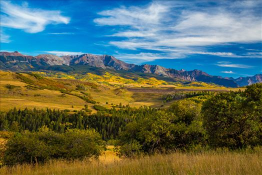 From Last Dollar Road looking towards the San Joquin Range, the area around Telluride explodes with fall colors.