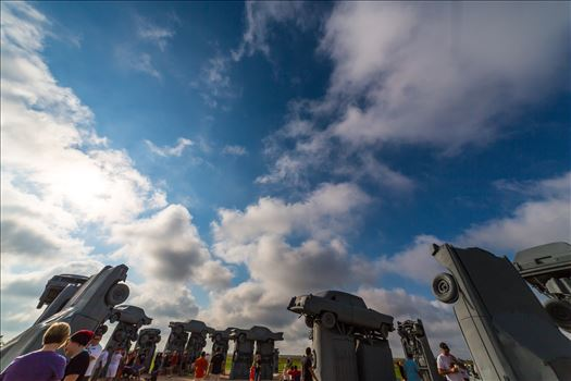 Total solar eclipse, at Carhenge in Alliance. Nebraska August 21, 2017.