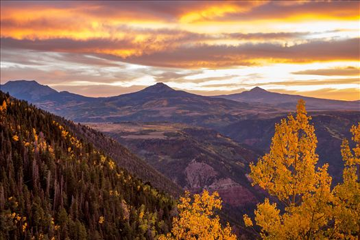 Sunset on a quiet, secluded spot from Last Dollar Road, outside of Telluride, Colorado in the fall.