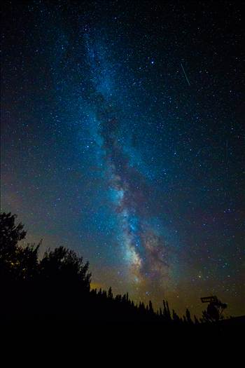 Another shot of the Milky Way and the Perseid meteor shower, from Ward, Colorado.