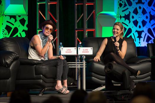 Denver Comic Con 2016 at the Colorado Convention Center. Clare Kramer and Lena Headey.