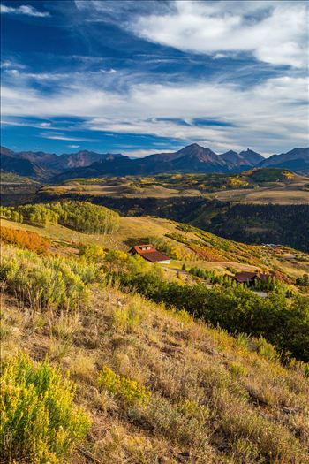 A ranch on Last Dollar Road, outside of Telluride, Colorado in the fall.