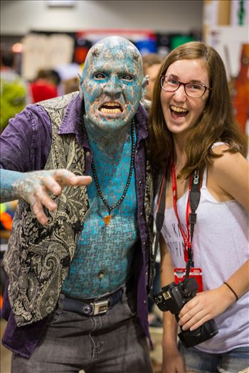 Denver Comic Con 2016 at the Colorado Convention Center. The Enigma with my daughter.
