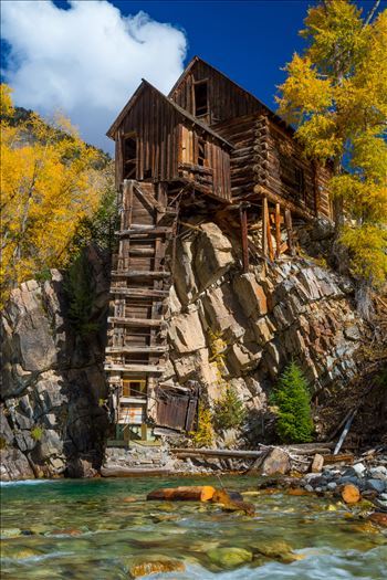 The Crystal Mill, or the Old Mill is an 1892 wooden powerhouse located on an outcrop above the Crystal River in Crystal, Colorado