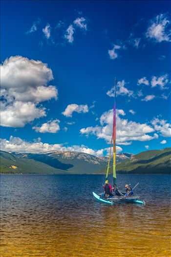 Sailing at Turqouise Lake, Leadville, Colorado.