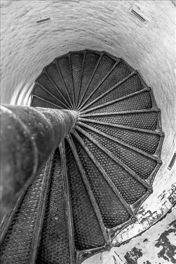 Steps inside the old Cape Henry Lighthouse, in Virginia.