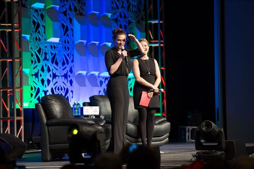 Denver Comic Con 2016 at the Colorado Convention Center. Clare Kramer and Haley Atwell.