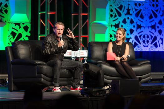Denver Comic Con 2016 at the Colorado Convention Center. Clare Kramer and Cary Elwes.
